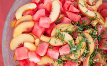 Ensalda de durazno y melón