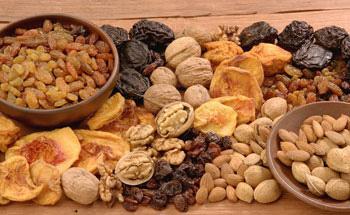Frutas desecadas, golosinas naturales